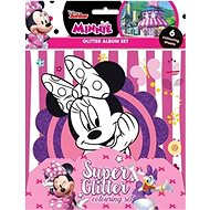 Glittering colouring pages of Minnie - Creative Kit