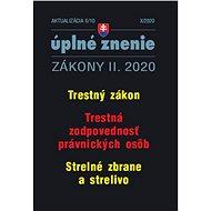Aktualizácia II/10 2020 – Trestné právo: Trestný zákon, trestná zodpovednosť PO a strelné zbrane a s - Kniha