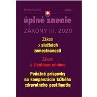 Aktualizácia III/7 2020 – Zákon o službách zamestnanosti: Životné minimum a príspevky k ťažkému zdra - Kniha