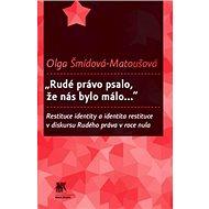 """Rudé právo psalo, že nás bylo málo..."": Restituce identity a identita restituce v diskursu Rudého p - Kniha"