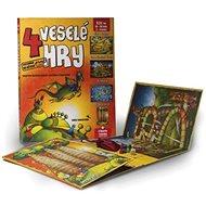 4 veselé hry: Leporelo s kostkou a figurkami - Kniha