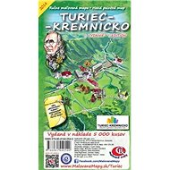 Turiec Kremnicko: Ručne maľovaná mapa Hand painted map - Kniha