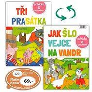 Tři prasátka /Jak šlo vejce na vandr: Pohádka + omalovánka - Kniha