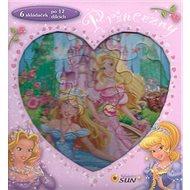 Princezny 6 skládaček po 12 dílcích - Kniha