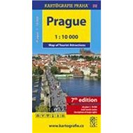 Prague: Map of Tourist Attractions - Kniha