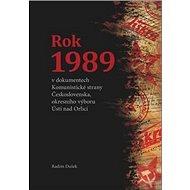 Rok 1989: vdokumentech Komunistické strany Československa, okresního výboru Ústí... - Kniha