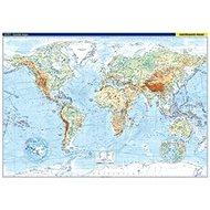 Svět nástěnná fyzická mapa: 1:22 000 000 - Kniha