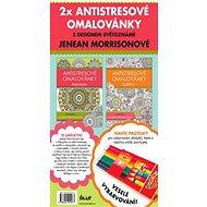2x Antistresové omalovánky + pastelky: s designem světoznámé Jeneam Morrisonové