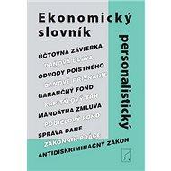 Ekonomický a personalistický slovník - Kniha