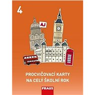 Procvičovací karty na celý školní rok 4: Angličtina - Kniha