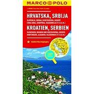 Chorvatsko, Srbsko, Slovinsko, Bosna 1:800 000: Hrvatska Srbija Kroatien Serbien - Kniha