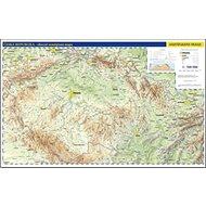 Česko nástěnná fyzická mapa: Nástěnná mapa ČR pro veřejnost 1:500 000 - Kniha