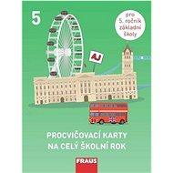 Procvičovací karty na celý školní rok 5: Angličtina - Kniha