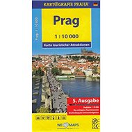 Prag 1:10 000: Karte touristischer Attraktionen /1:10 tis. - Kniha
