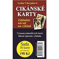Cikánské karty: Základní návod na výklad + sada 36 karet - Kniha