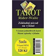 Tarot Rider - Waite: Základní návod na výklad + sada karet - Kniha