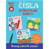 Myška Arty Čísla Stíratelné karty: Hravý nácvik psaní, 40 karet - Kniha