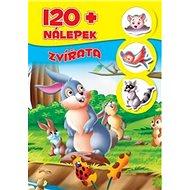 Zvířatá + 120 nálepek - Kniha