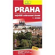 Praha největší zobrazené území 2017: 1:25 000 - Kniha