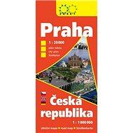 Praha Česká republika největší zobrazené území 2017: Praha 1:20 000, ČR 1:1 000 000 - Kniha