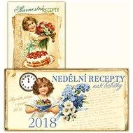 Komplet 2ks Stolní kalendář nedělní menu 2018 + Slavnostní recepty - Kniha