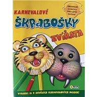 Karnevalové škrabošky Zvířata - Kniha