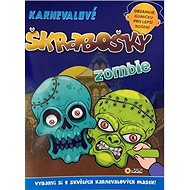 Karnevalové škrabošky Zombie - Kniha