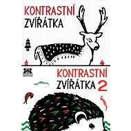 Leporela pro miminka Kontrastní zvířátka 1 a 2 - Kniha