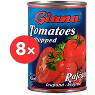 GIANA Sliced Tomatoes 8× 425ml - Canned Vegetable