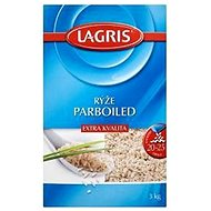 LAGRIS Parboiled Rice Extra Quality 1× 3kg - Rice