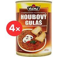HAMÉ Houbový guláš hotové jídlo 4 × 415 g - Konzerva
