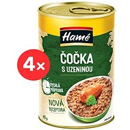 HAMÉ Lentils with Sausage Ready Meal 4× 415g - Ready Meal