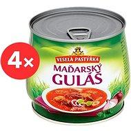 VESELÁ PASTÝŘKA Maďarský guláš 4 × 420 g - Konzerva