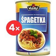 HAMÉ Špagetka masová směs hotové jídlo 4 × 415 g - Konzerva