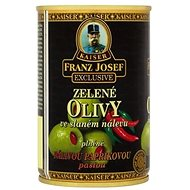 FRANZ JOSEF KAISER Green Olives Stuffed with Hot Pepper Paste  300g - Canned Vegetable