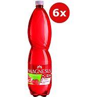 MAGNESIA Red jahoda 6 × 1,5 l - Ochucená voda