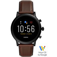 FOSSIL FTW4026 M Black/Brown Leather - Smartwatch