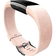 Fitbit Charge 2 Band Leather Blush Pink Large - Řemínek