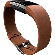 Fitbit Charge 2 Band Leather Brown Large - Řemínek