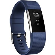 Fitbit Charge 2 Large Blue Silver - Fitness náramek