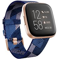 Fitbit Versa 2 Special Edition (NFC) - Navy & Pink Woven - Chytré hodinky