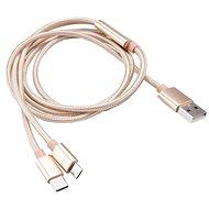 AKASA USB typ A na typ C a micro B nabíjecí a synchronizační kabel / AK-CBUB42-12GL - Datový kabel