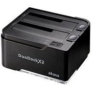AKASA DuoDock X2 černá - Externí dokovací stanice