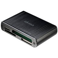 AKASA USB 3.0 multi card reader AK-CR-08BK - Čtečka karet