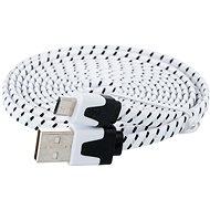 PremiumCord USB 2.0 propojovací A-B micro 1.8m černo-bílý