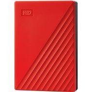Externí disk WD My Passport 2TB, červený