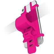CELLY EASY BIKE pro telefony k upevnění na řídítka růžový - Pouzdro na mobilní telefon