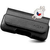 FIXED Sarif horizontální XL černé - Pouzdro na mobilní telefon