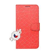 FIXED FIT pro Huawei P30 motiv Red Mesh - Pouzdro na mobilní telefon