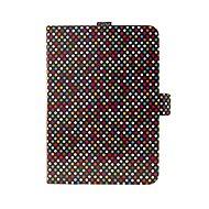 FIXED Novel se stojánkem a kapsou pro stylus PU kůže motiv Rainbow Dots - Pouzdro na tablet